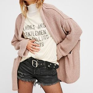 Free People Low Tide Cardi Blush